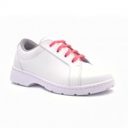 "Chaussure de travail type ""Sneakers"" DF901L lacets rose fluo"