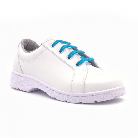 """Chaussure de travail type """"Sneakers"""" DF903L lacets turquoise"""