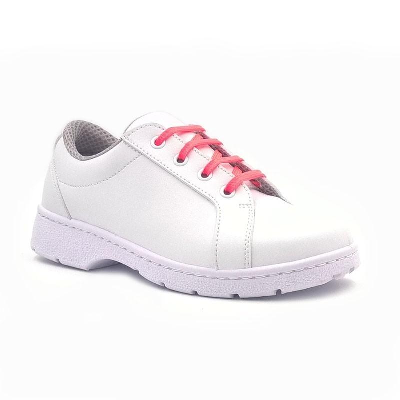 "Chaussure de travail type ""Sneakers"" DF901L lacets rose fluo"