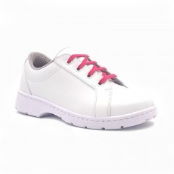 "Chaussure de travail type ""Sneakers"" DF904L lacets fuchsia"