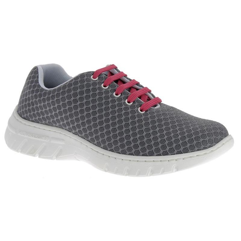 Chaussure de travail DF9914 anthracite lacets fuchsia - Calpe - Dian