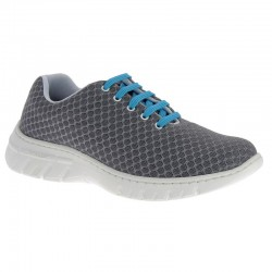 Chaussure de travail DF9919 anthracite lacets turquoise - Calpe - Dian