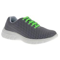 Chaussure de travail DF9912 anthracite lacets vert fluo - Calpe