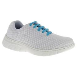 Chaussure de travail DF9909 blanc lacets turquoise - Calpe - Dian