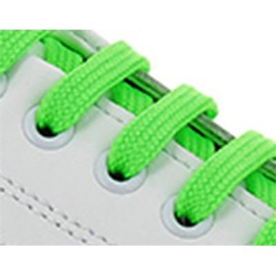 Blanc /Lacets vert fluo