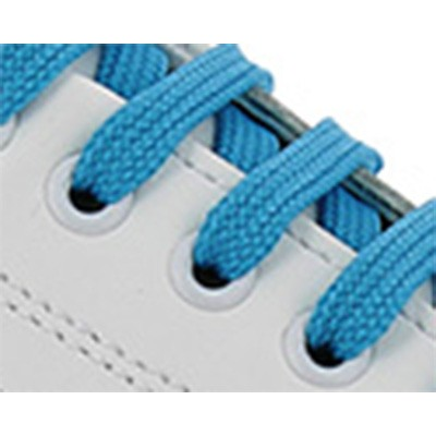 Blanc / Lacets turquoise